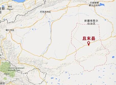 新疆塔里木盆地地势图