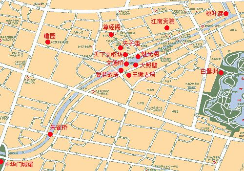【南京夫子庙景区地图】南京夫子庙旅游小吃地图,夫子庙周边景点攻略