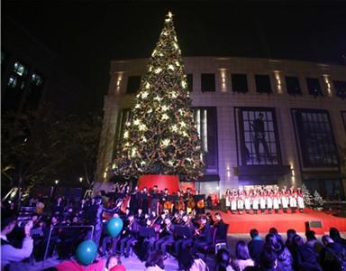 杭州嘉里中心首次圣诞亮灯活动