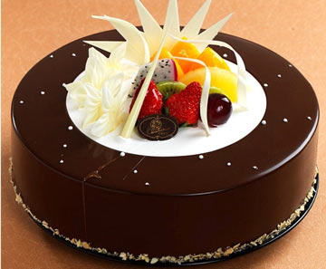 蛋糕 市区免费送 克里斯汀 水果漩涡; 克莉丝汀水果漩涡; 配送 巧克力