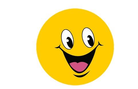 大笑表情矢量图
