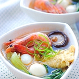 清香扑鼻的鲜虾蛋饺汤的做法