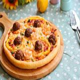 意式鲜虾肉丸披萨怎么做?