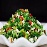 红梗菜拌香干的做法