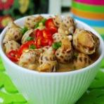 海鲜美食在家做  辣酒煮花螺的做法