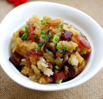 懒人大锅饭:生炒腊味糯米饭的做法