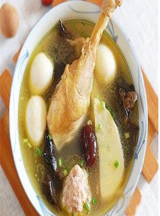 春季食疗美食系列之三鲜鸡汤