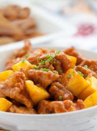 春季食疗美食精品系列之糖醋菠萝鸡块
