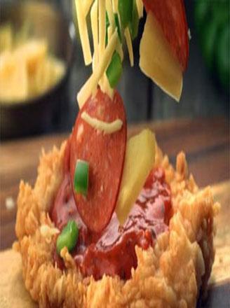 肯德基chizza怎么做?肯德基芝士鸡腿披萨配料