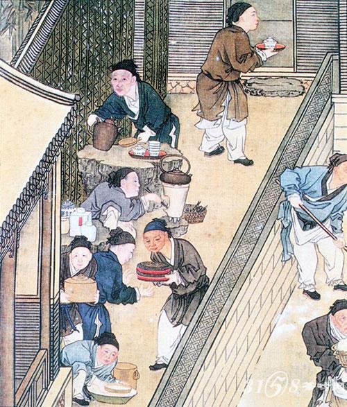 复古茶壶的花纹漫画