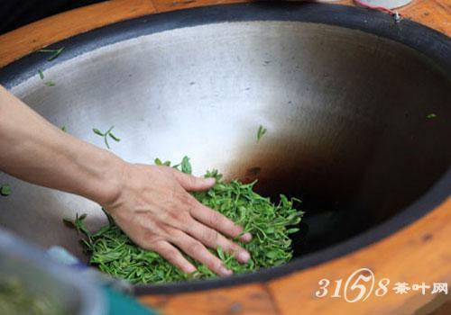 绿茶的制作工艺简单地可以分为杀青,揉捻和干燥三个步骤,其中最关键还