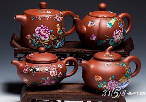 具有绝世工艺的珐琅彩福寿紫砂壶