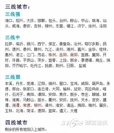 中国二线城市名单_中国一线城市名单、二线城市名单和三线城市名单
