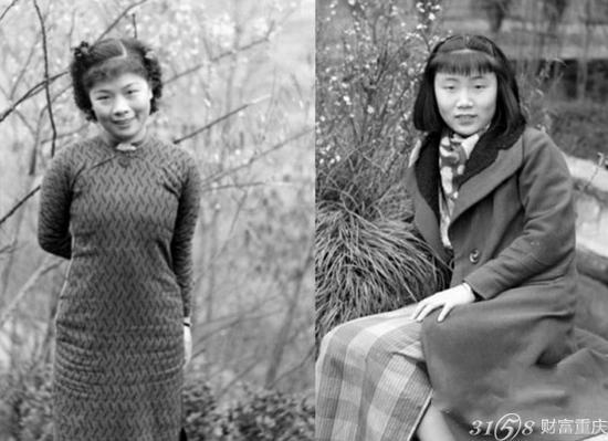 民初到30年代,最突出的新女性群体当属女学生。出没在社会场域中的女学生,白衫黑裙的打扮在当时实在是太新鲜了。那时她们常被称为的摩登女郎。被问到当年的衣着打扮,忍不住再次赞扬赵老太太当天的装束。当年都是去解放碑的西大百货公司选布料再做成衣服,也有上海过来的成衣,穿常穿的款式还是旗袍,因为家教和读书的缘故,服装面料都是纯棉的,只追求大方得体,并不追求多么华丽。当时还流行烫发,烫一次贵的十几块,便宜的三四块也够。每年去香港探亲都不会带太多换洗衣物,到了香港再买,那边商场的服装可是要丰富太多。尽管赵老太太已是