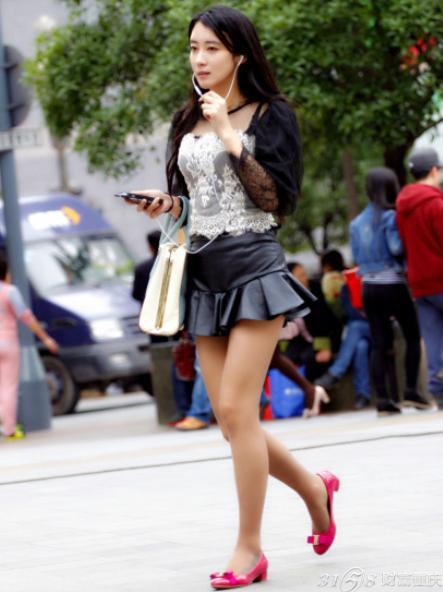 2014年重庆美女街拍 最新时尚街拍搭配 竖