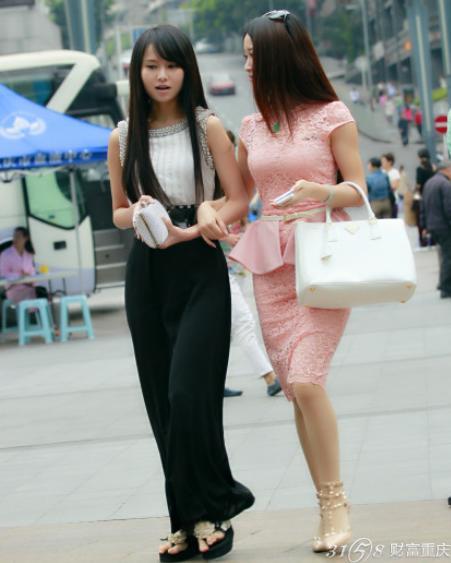 2014重庆美女街拍 个个明星范儿十足