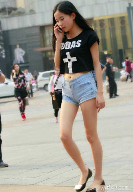2014重庆美女街拍 时尚搭配靓瞎眼 3158重庆分站