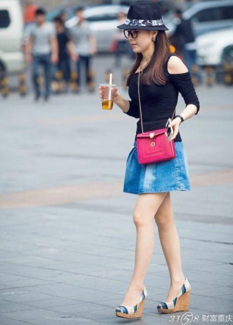 2014重庆美女街拍 五一时尚搭配