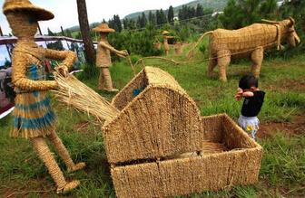 重庆大学生众筹40万办稻草节 接纳游客超过2万名