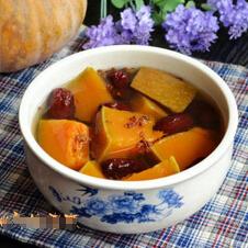 美味养生桂花红枣南瓜汤的做法