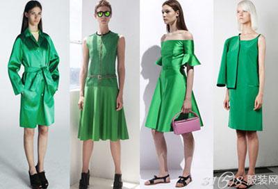 绿色衣服搭配图片