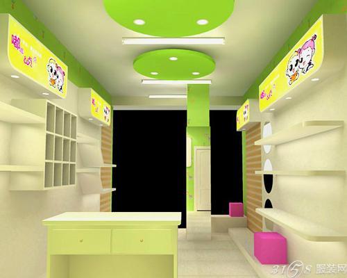 儿童服装店欧式石膏板造型墙