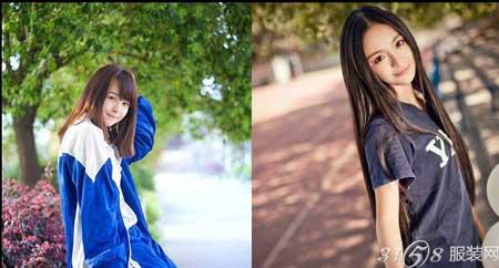 2014时尚职业女装_长沙周南中学萌妹子身穿校服写真照-3158服装加盟网