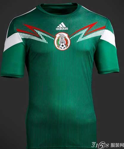 2014年巴西世界杯墨西哥国家队球服