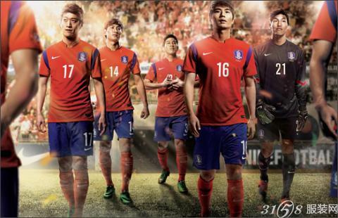 韩国队征战巴西世界杯主场球衣图片