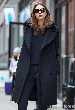 冬季胖女生穿衣搭配 一身黑显瘦利器!-3158服装加盟网