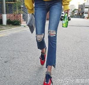 今年流行什么款式的牛仔裤图片
