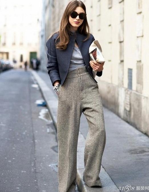 冬季阔腿裤怎么搭配