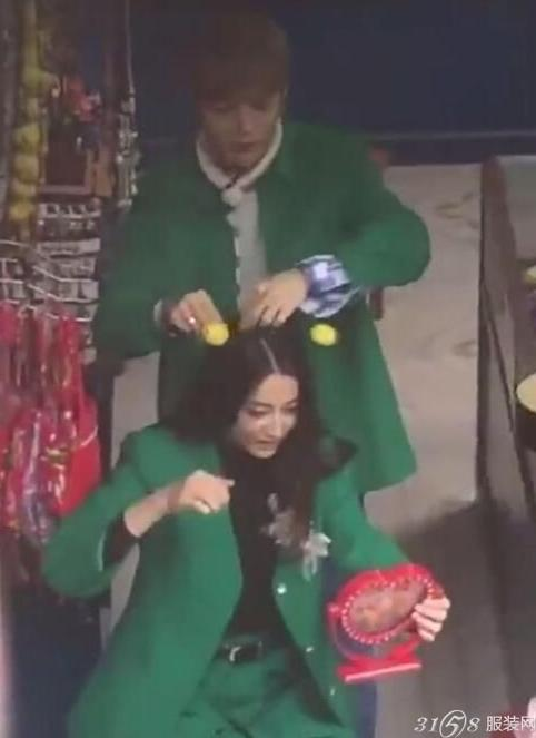 跑男第五季 鹿晗和迪丽热巴穿情侣装成CP