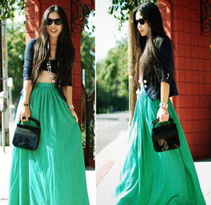 夏天长裙子的魅力穿搭