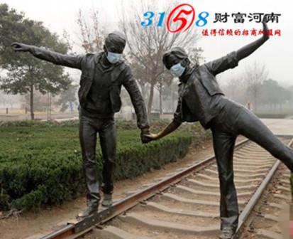郑州雕塑戴口罩防雾霾