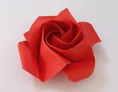 最简单的玫瑰花折法