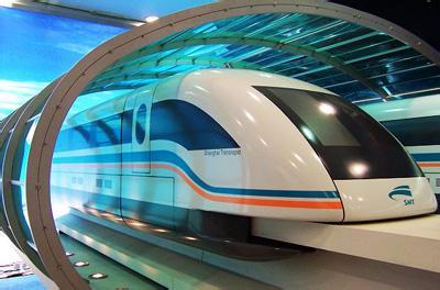 最高时速是日本磁浮火车在2003年达到的581公里/小时