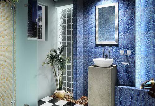 打造个性卫浴间 几种瓷砖巧铺贴
