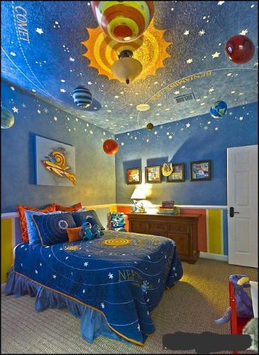 儿童房创意家饰四:宇宙太空