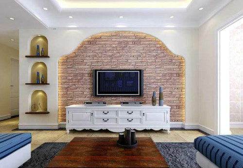 地中海风格,电视背景墙展示; 地中海风格装修效果图; 地中海风格图片