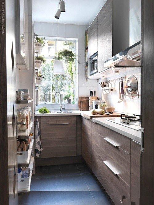 40平米转角太诱惑 小户型厨房装修效果图高清图片