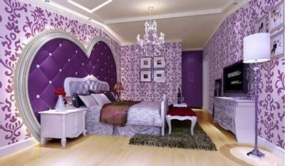 女生卧室墙纸用什么颜色?卧室用紫色