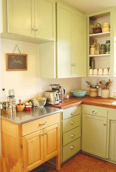40平米转角太诱惑 小户型厨房装修效果图