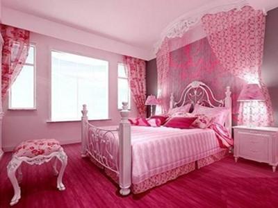 干色阁_卧室粉色装修效果图4款粉色情结