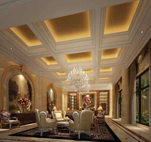 客厅酒柜图片#豪华客厅灯具装修效果图; 客厅吊顶设计 有横梁的客厅