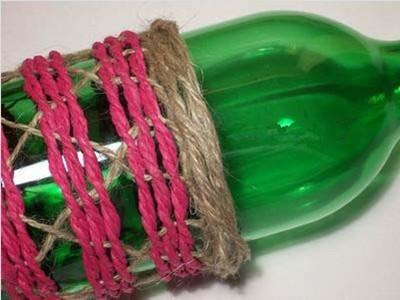 纸绳手工动物瓶子