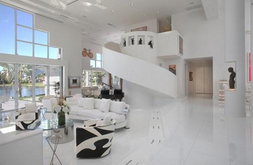 2013年最新现代复式客厅装修效果图图片