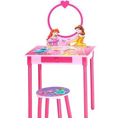 这款美式纯实木的儿童梳妆台