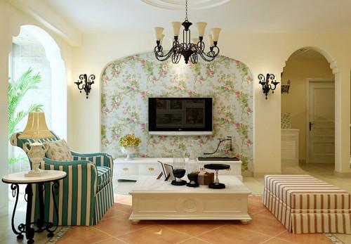 客厅欧式田园风装修效果图大全图片