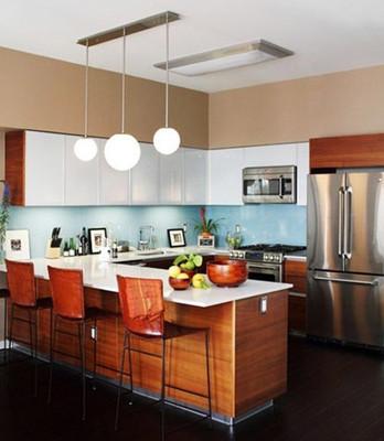 4款厨房带吧台橱柜设计 浪漫二人情调生活图片